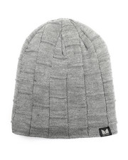 Beanie - Fleece Lined Slouch Boxed Cable Knit Beanie-2273156