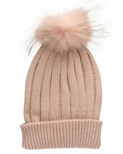 Fashion Lab - Genuine Raccoon Pom Hat-2273625
