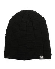 Hats - Fleece Lined Slouch Boxed Cable Knit Beanie-2273155