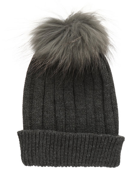 Fashion Lab - Genuine Raccoon Pom Hat
