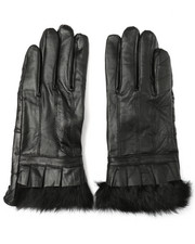 Fashion Lab - Fur Trim Leather E-Touch Gloves-2273323