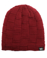 Men - Fleece Lined Slouch Boxed Cable Knit Beanie-2273153
