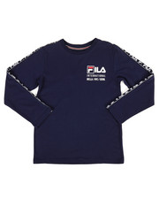 Fila - Long Sleeve International Logo Taping Tee (8-20)-2270822