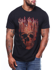 Short-Sleeve - Skull Fire Tee (B&T)-2273577