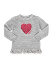 Girls - DKNY Sweater w/ Fringe (4-6X)-2272301