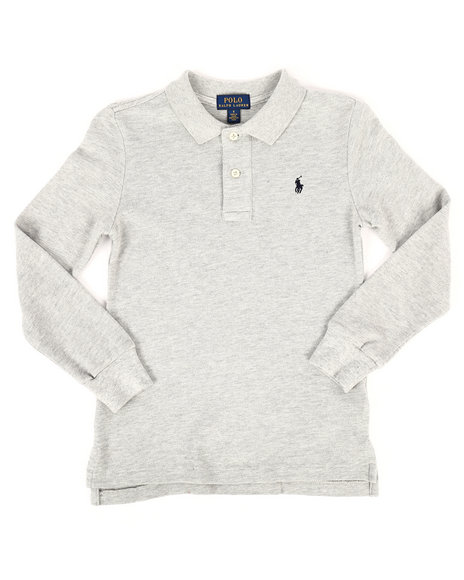 Polo Ralph Lauren - Long Sleeve Basic Mesh Polo Shirt (4-7)