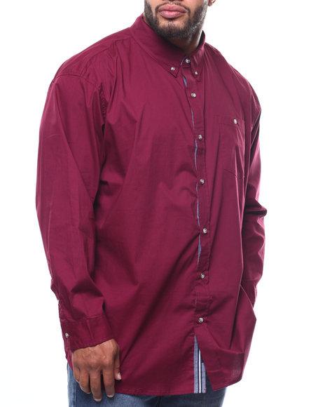 Lee - L/S Button-down Stretch Poplin Shirt (B&T)