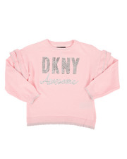 DKNY Jeans - Sequin Logo Ruffled Sweater (4-6X)-2272310