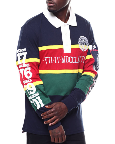 Heritage America - ROMAN NUMERAL L/S RUGBY