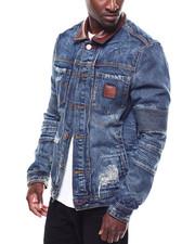 Denim Jackets - WOLF PANEL JEAN JACKET-2274124