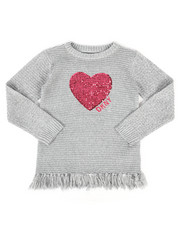 Girls - DKNY Sweater w/ Fringe (7-16)-2270654