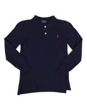 Polo Ralph Lauren - Long Sleeve Basic Mesh Polo Shirt (4-7)-2270453