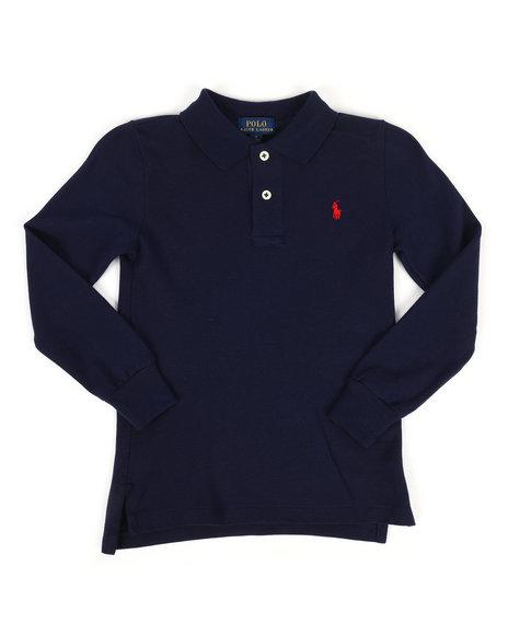 Polo Ralph Lauren - Long Sleeve Basic Mesh Polo Shirt (4-7)