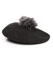 Women - Wool Beret w/ Faux Fur-2273172