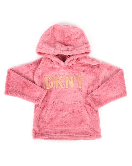 DKNY Jeans - Faux Fur Pullover Hoodie (7-16)