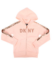 DKNY Jeans - DKNY Sequin Zip Up Hoodie (7-16)-2271565