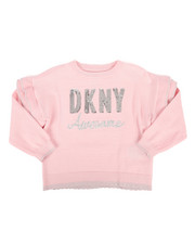 DKNY Jeans - Sequin Logo Ruffled Sweater (2T-4T)-2272306