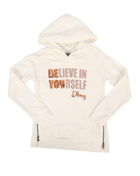 DKNY Jeans - Sequin Hoodie w/Side Zip (7-16)