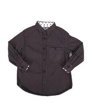 Tops - Bulls Eye Print Woven Shirt (4-7)-2272842