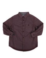 Boys - Square Print Woven Shirt (4-7)-2272847