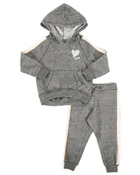 DKNY Jeans - 2 Piece DKNY Hoodie & Sweatpants Set (2T-4T)
