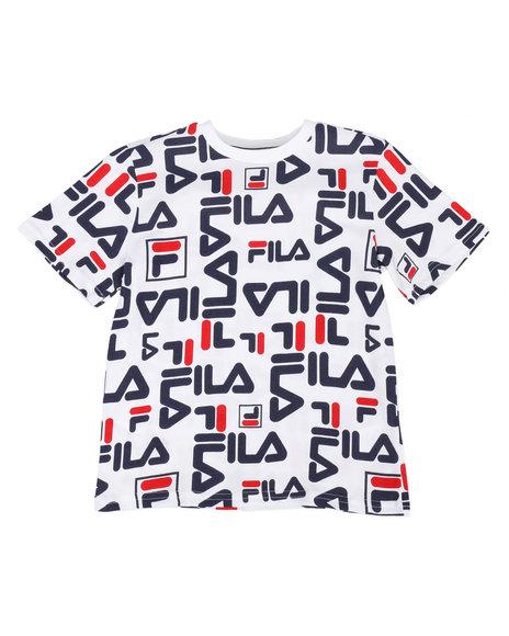 Fila - Heritage Allover Logo Tee (8-20)