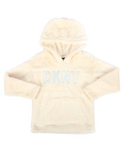 DKNY Jeans - Faux Fur Pullover Hoodie (7-16)-2272963
