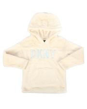 Hoodies - Faux Fur Pullover Hoodie (7-16)-2272963