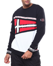 Nordic Down - L/S NAUTICAL FLAG CREWNECK SWEATSHIRT-2275018