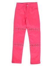 Bottoms - Twill Pants w/ Lacing Detail (7-16)-2275035