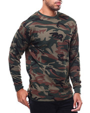 Thermals - Solid L/S Crewneck Thermal Top-2275594