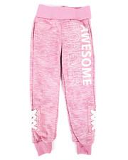 Sweatpants - Fleece Jogger w/ Lacing Detail (4-6X)-2274792