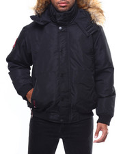 Heavy Coats - CANADA WEATHER Faux Fur Hooded Bomber Jacket-2275090