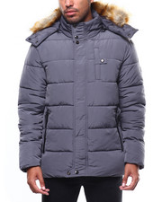 Men - HEAVY QUILTED COAT WITH AMERICANA TAPE DETAIL-2275005