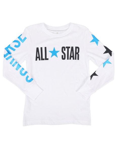 Converse - Long Sleeve All Star Wordmark Tee (8-20)