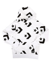 Boys - Star Chevron Print Pullover Hoodie (8-20)-2273824