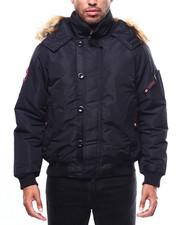Heavy Coats - CANADA WEATHER zip up Faux Fur Hood Jacket-2275138