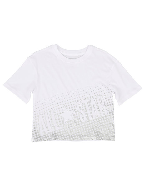 Converse - Cropped Metallic All Star Tee (7-16)
