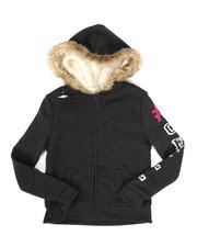 Hoodies - Sherpa Lined Distressed Fleece Hoodie (7-16)-2274422