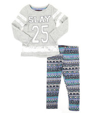 Sizes 2T-4T - Toddler - Lace Insert Top/Legging Set (2T-4T)-2275418