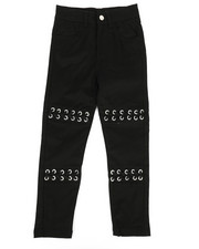 Girls - Twill Pants w/ Lacing Detail (4-6X)-2275470
