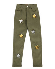 Girls - Twill Pants w/ Reversible Sequin Patches (7-16)-2275672