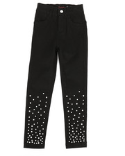 Girls - Twill Pants w/ Pearl Detail (4-6X)-2275588