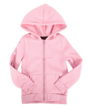 Girls - Fleece Hood Jumper w/ Zipper & Foil Art (4-6X)-2274485