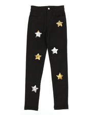 Girls - Twill Pants w/ Reversible Sequin Patches (7-16)-2275450