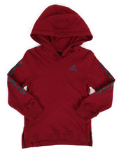 Adidas - Branded Linear Sleeve Hooded Tee (2T-4T)-2275828