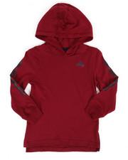 Tops - Branded Linear Sleeve Hooded Tee (4-7X)-2275837