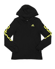 Tops - Branded Linear Sleeve Hooded Tee (8-20)-2275908