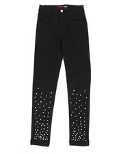 Girls - Twill Pants w/ Pearl Detail (7-16)-2275615