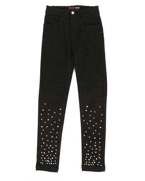 La Galleria - Twill Pants w/ Pearl Detail (7-16)